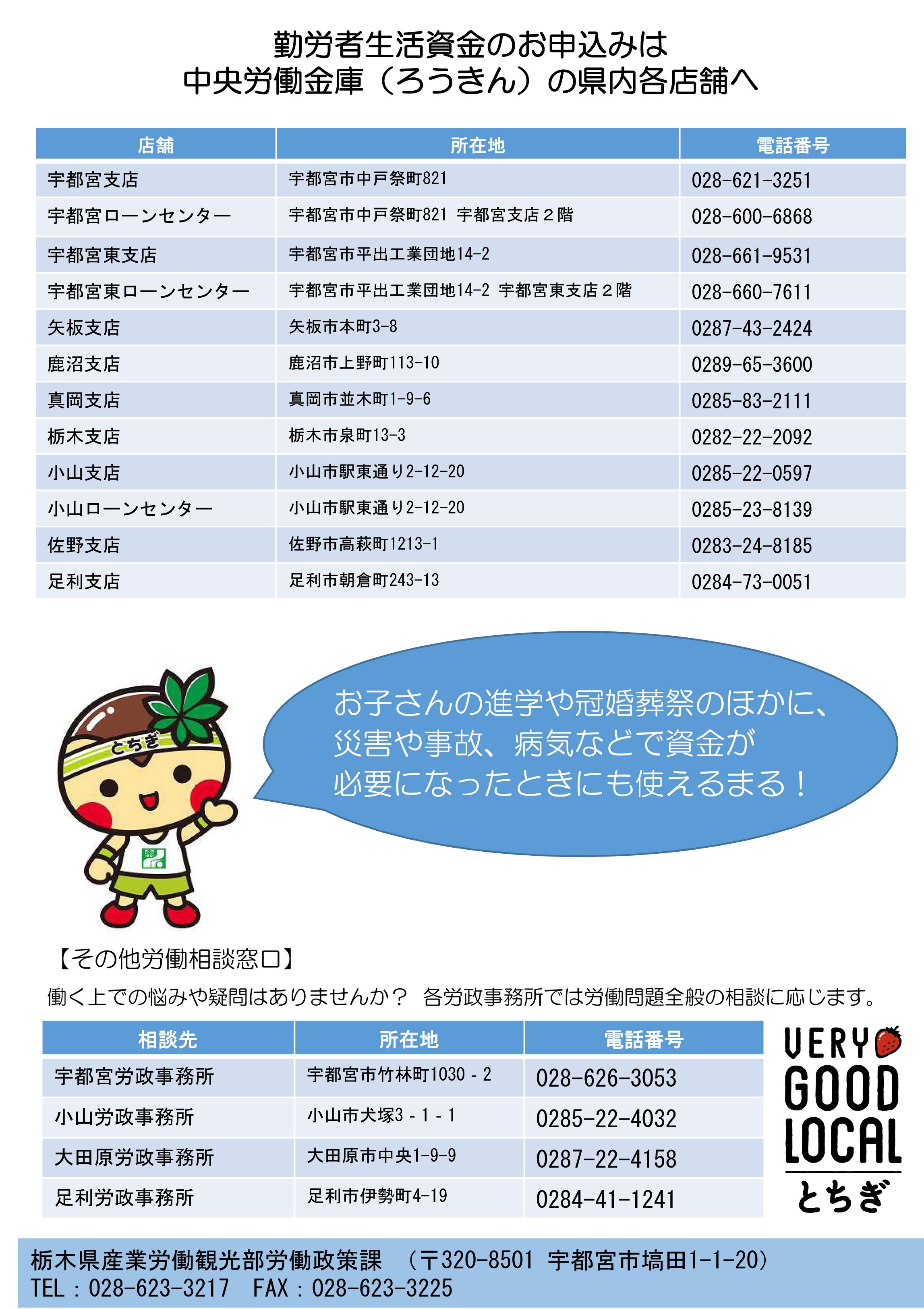 リーフレット_勤労者生活資金